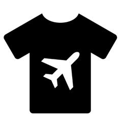 T-Shirt Flat Icon vector image