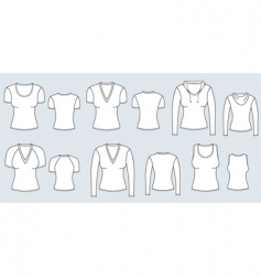 T-shirts women vector