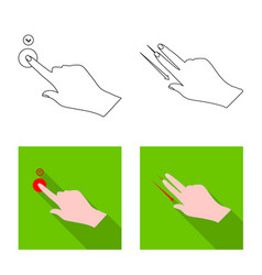Touchscreen and hand symbol vector