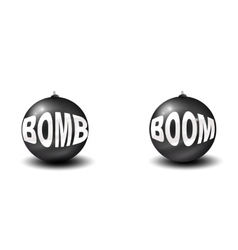 Two bombs vector image