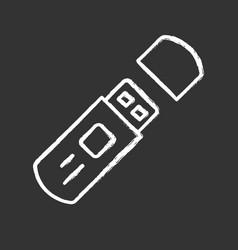 usb flash drive external data storage chalk icon vector image