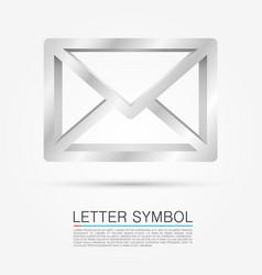 Volume letter symbol vector