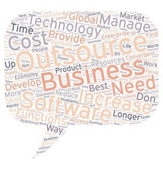Why Outsource Work text background wordcloud vector