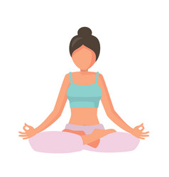woman in lotus pose vector image