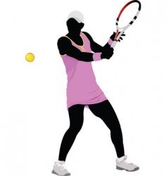 Woman tennis vector