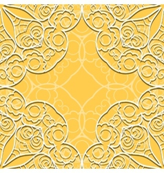 Yellow lace seamless pattern vector