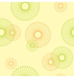 Yellow seamless pattern with round elements vector
