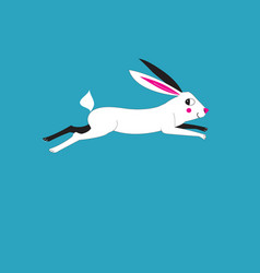 a running hare vector image vector image