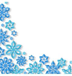 corner snowflake background vector image