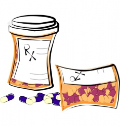 pill bottles vector image