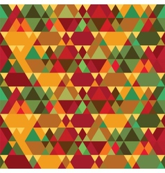 Triangles Vintage Seamless Pattern vector image