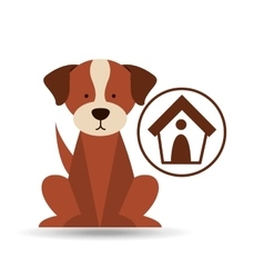 veterinary dog care house dog icon vector image vector image