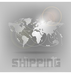 world shipping vector image