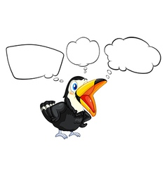 A black bird with empty callouts vector image vector image