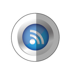 blue symbol wifi icon vector image
