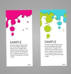 Design banner concept paint colorful vector image