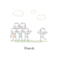 Friends vector image