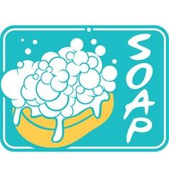 Soap label vector image