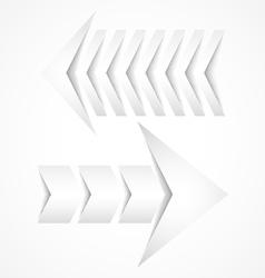 Two white arrows concept designs vector image