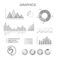 black and white graphics poster with diagrams vector image