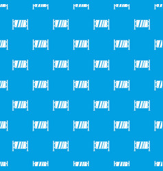 glass gate pattern seamless blue vector image vector image