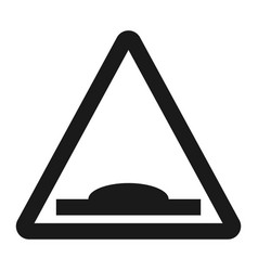 hump sign line icon vector image
