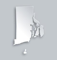 Map of rhode island vector