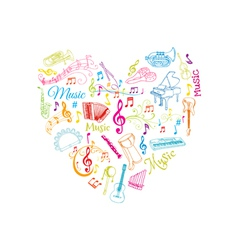 Musical Notes and Instruments vector image