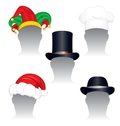 various hats and caps vector image
