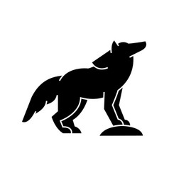 wolf icon sign on isolate vector image vector image