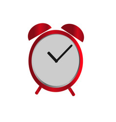 alarm clock icon in red color isolated background vector image