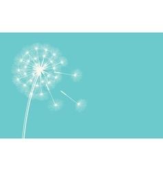 Dandelion against the blue sky vector image