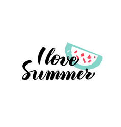 love summer calligraphy vector image vector image
