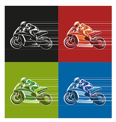 racing icon vector image vector image