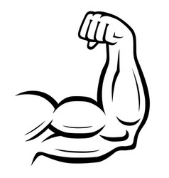 strong arm icon fitness bodybuilding concept vector image vector image