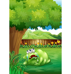A tired monster under tree vector