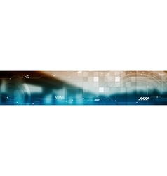 Abstract tech industrial web header banner vector