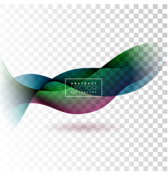 abstract wave design on transparent background vector image