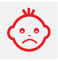 baby face emotion icon symbol design vector image