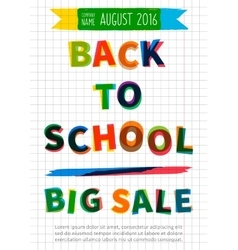 Back to school Big Sale banner vector