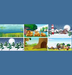background scene nature vector image