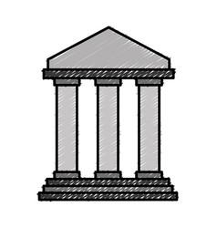 Bank icon image vector