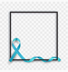 Blue prostate cancer awareness symbolic ribbon vector