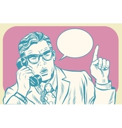 Boss talking on the phone vector