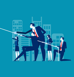 business team pull ropes concept business vector image