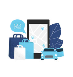carsharing concept rent car for shopping vector image