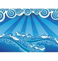 Cartoon Stormy Sea7 vector