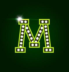 Casino and resort letter m luxury letter vector