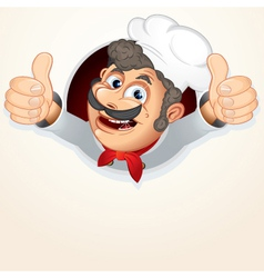 Cheerful chef cook vector