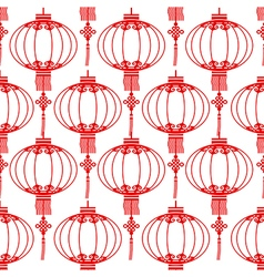 Chinese lantern seamless vector image